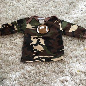 Haute baby football shirt sz 3/6 months